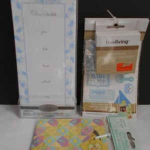 8 Baby Shower Invitations BOY BABY STICKERS 2 BAGS